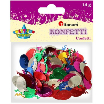 Konfetti baloniki 12x26mm, 14g mix kolor