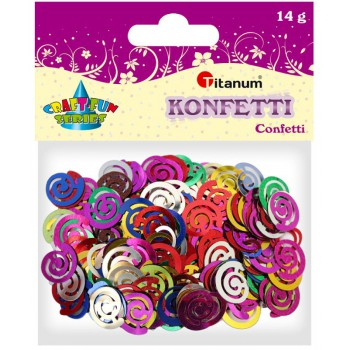 Konfetti spiralki 17x15mm, 14g mix kolor
