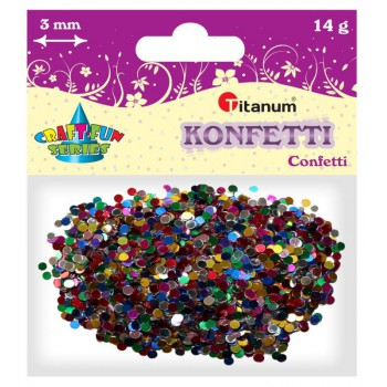 Konfetti mini kółeczka, 3mm 14g mix kolor