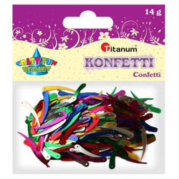 Konfetti łezki 33x4 mm, 14g mix kolor