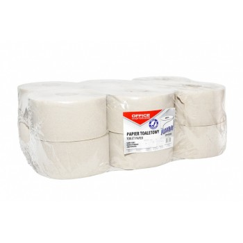 Papier toaletowy Office Products Jumbo 12 rolek, szary