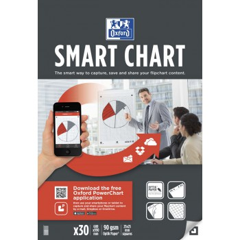 Blok do flipchartów Oxford Smart Chart 65x99, krata 30 kartek